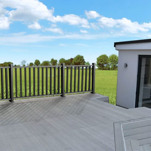 Balustrades with composite decking