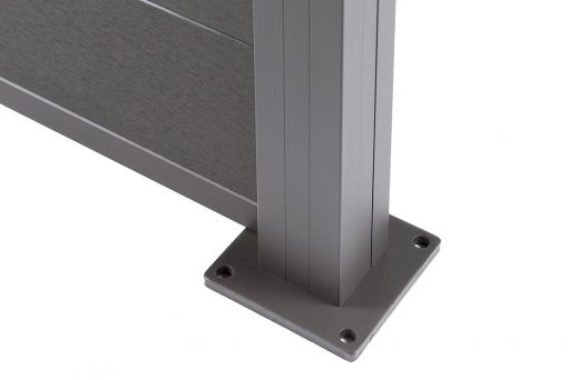 Charcoal Fence Baseplate detail
