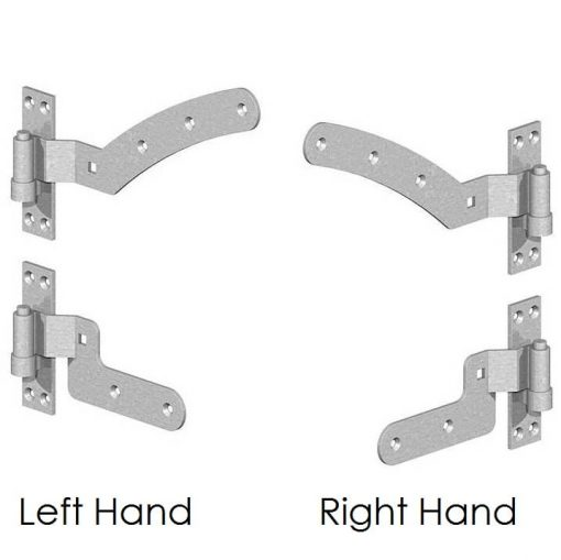Curved Rail Hinges