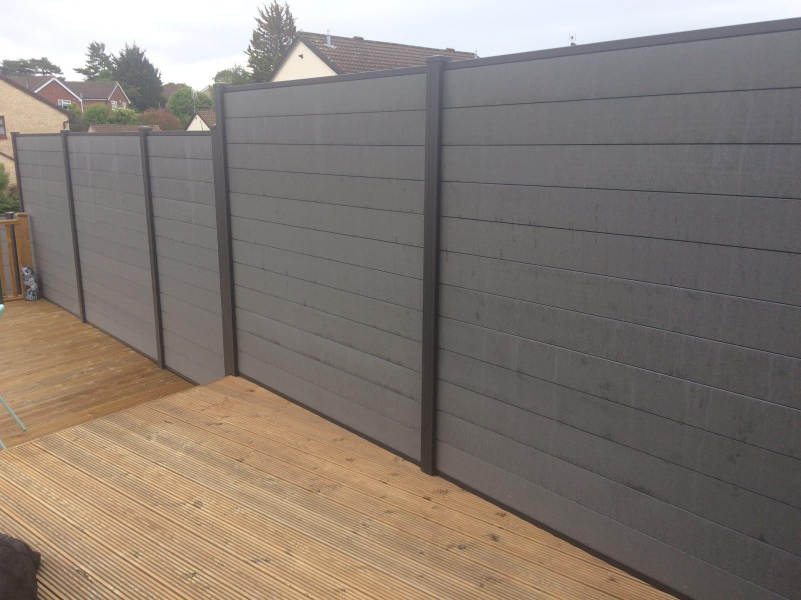 Pvc Fencing Panels Full Privacy For Use In Concrete Posts 4 X 6 Feet Ebay