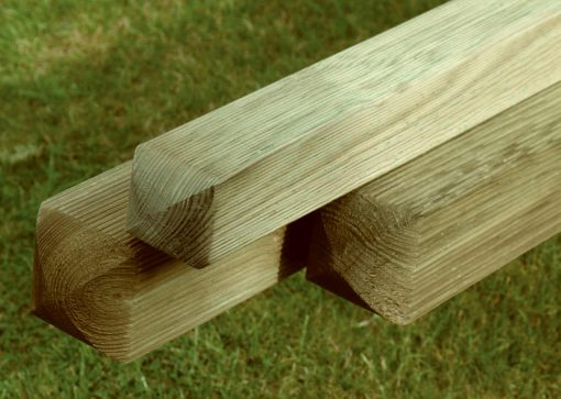 Planed & Ribbed Pine Posts