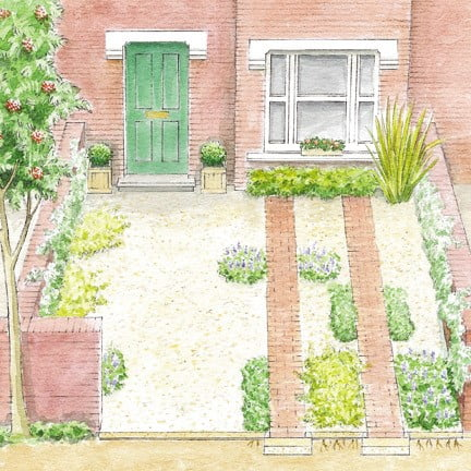 The RHS has some simple front garden design ideas