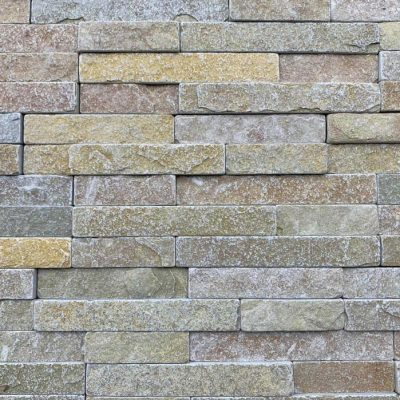 Tumbled Yellow Limestone cladding