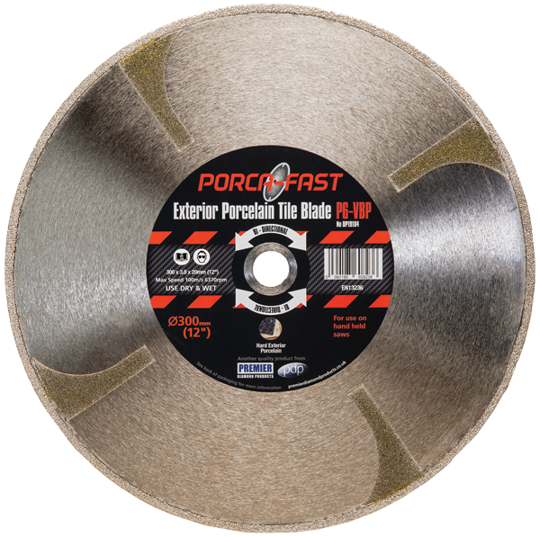 Diamond blade for cutting 20mm porcelain paving