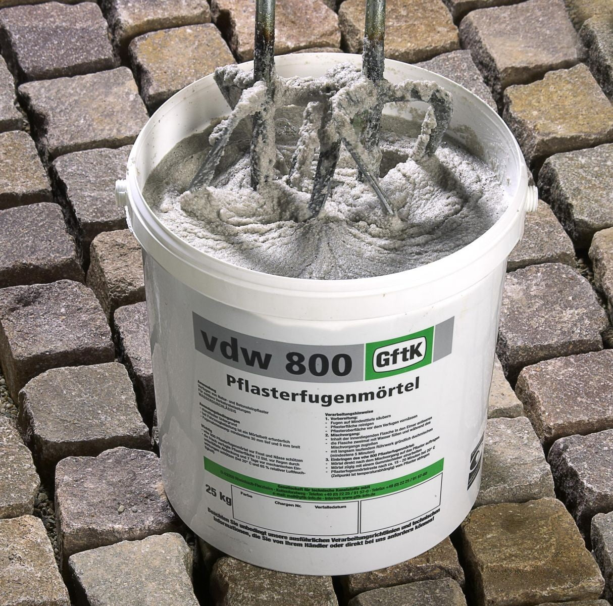 VDW is an epoxy paving jointing mortar