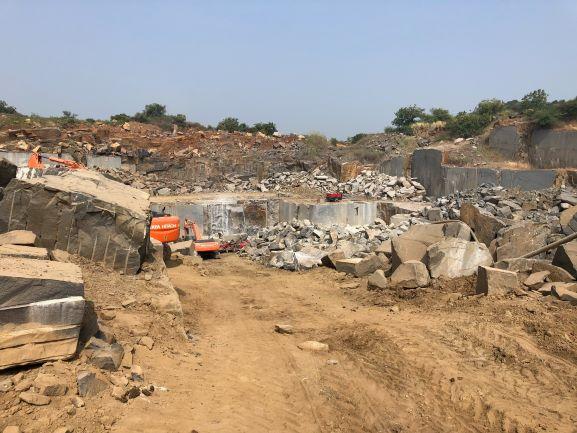 Black granite quarry in Khammam