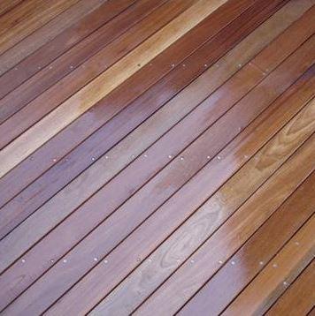 Balau hardwood decking (wet)