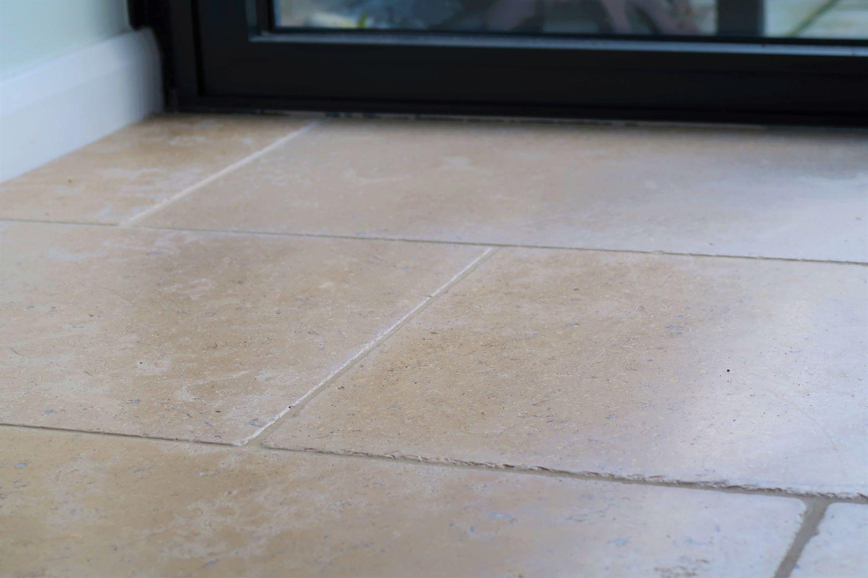 Egyptian Limestone Sinai Pearl inside kitchen
