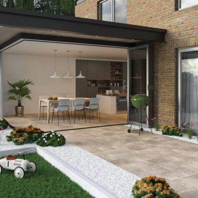 Modulo Icon Barley modular porcelain paving inside and outside