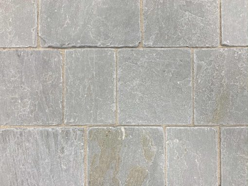 Tumbled Sandstone Block Paving Silver Grey