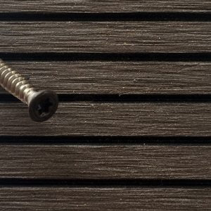 Powder coated stainless steel screw to match composite decking