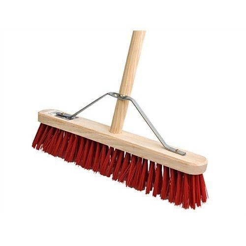 red pvc broom