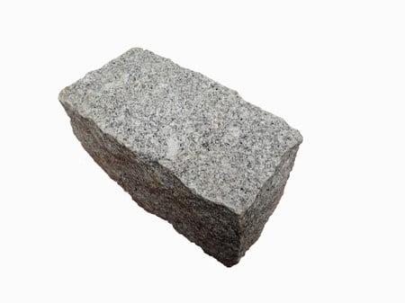 Kebur Natural Granite Setts - 200 x 100 x 100mm, Silver Grey