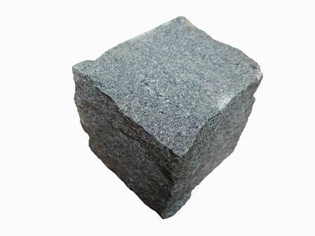 Kebur Natural Granite Setts - 100 x 100 x 100mm, Dark Grey