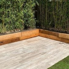 New treated brown softwood sleepers