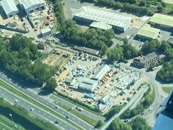 Aerial view of Kebur Garden Materials